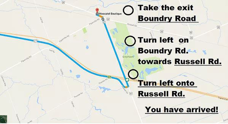 Directions to moscatel Boutique