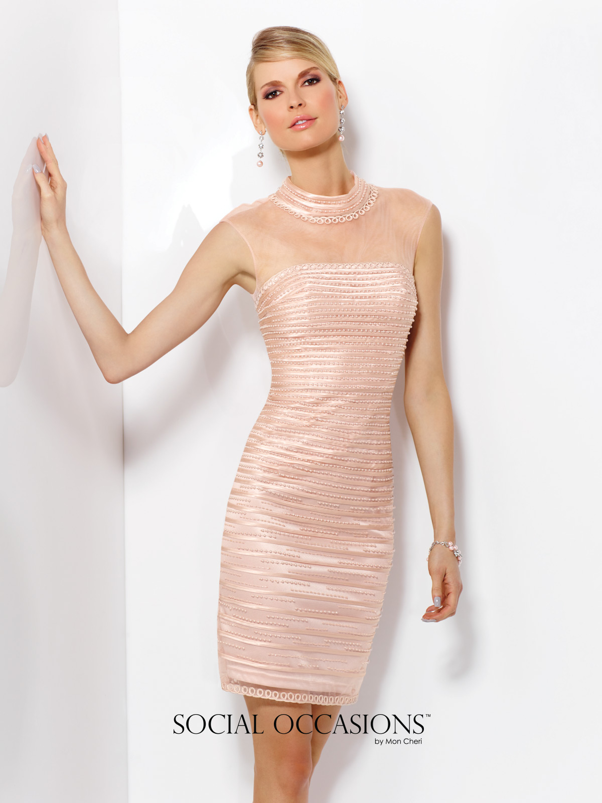 pink pearls dress 116832