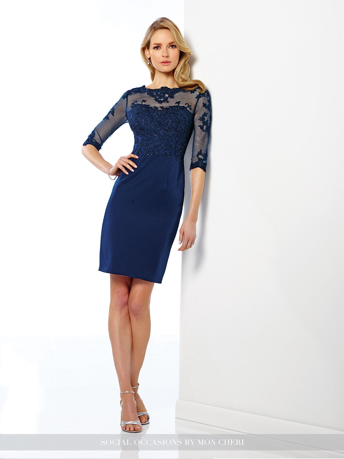 navy blue short dress 216878