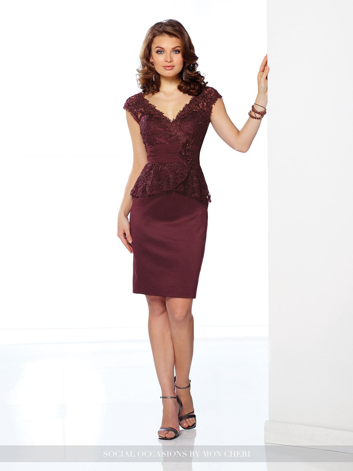216883 burgundy dress Social Occasion Dresses 2017 by Mon Cheri