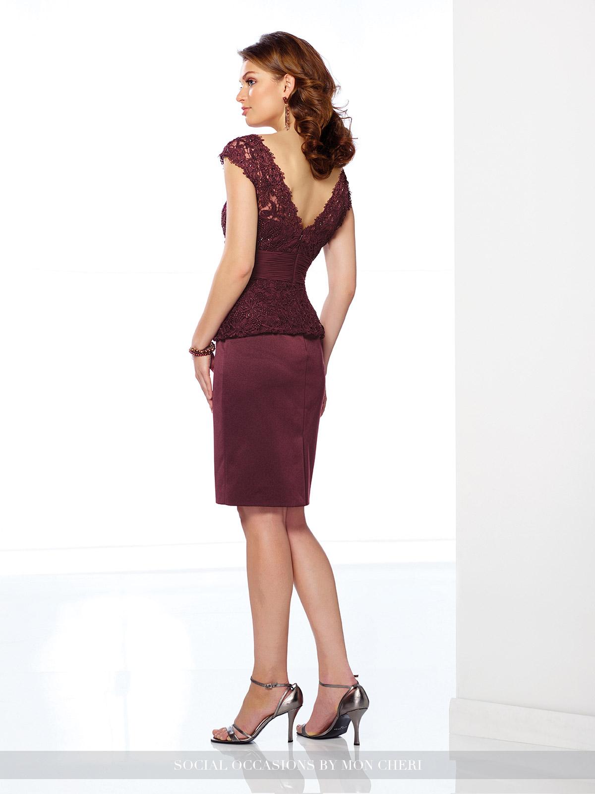 216883 burgundy dress Social Occasion Dresses 2017 by Mon Cheri