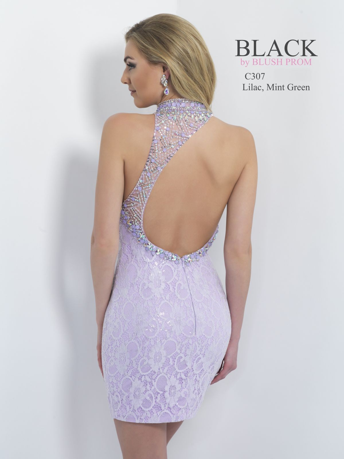 open back fitted short dress