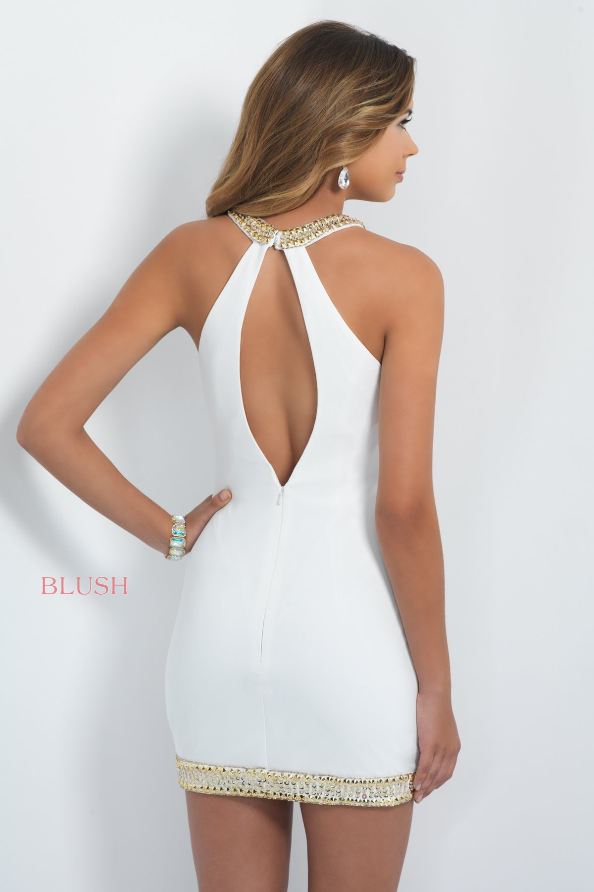 white ivory short dress