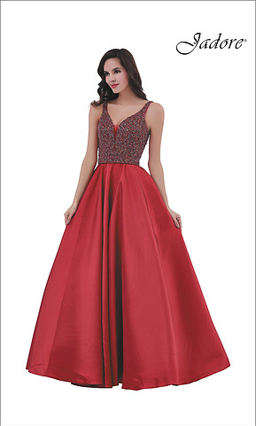 burngundy prom dress from jadore