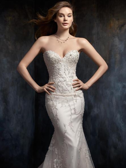 simple beaded wedding dress