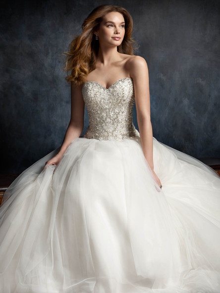 beaded top ball gown sweet heart