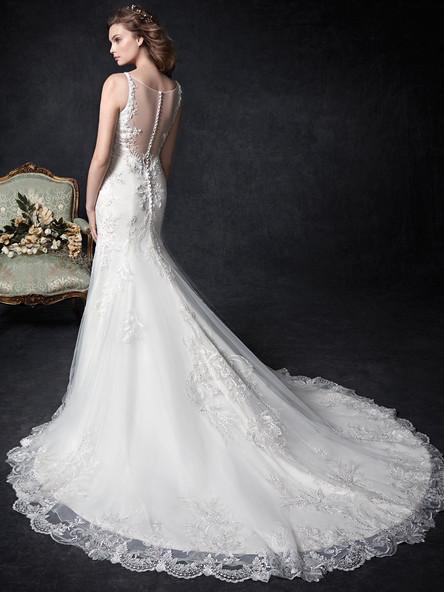 illusion back wedding dress simple lace