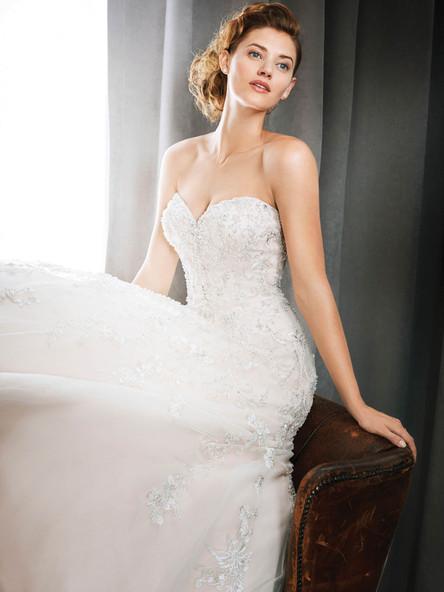 fully beaded wedding dress with aline skirt